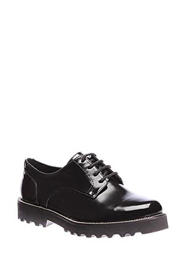 İnci İnci Rugan Klasik   Düz Ayakkabı Siyah